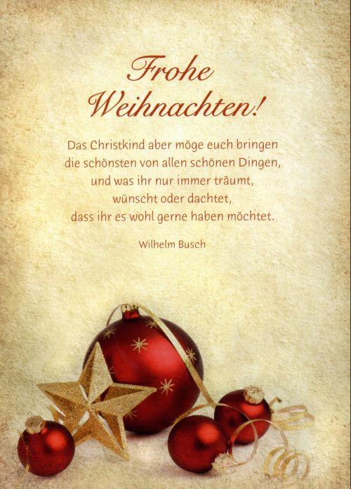 Weihnachtsgrüße Wilhelm Busch.Weihnachtsgrüße